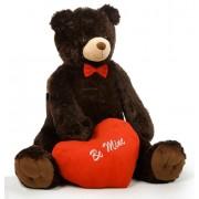 Huge Dark Brown 5 Feet Bigfoot Teddy Bear with Red Be Mine Heart