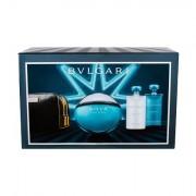 Bvlgari Aqva Pour Homme confezione regalo Eau de Toilette 100 ml + doccia gel 75 ml + balsamo dopobarba 75 ml + borsa per cosmetici uomo