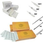 MUMBAI TATTOO NEEDLES 7RL 7RS 7M1 ROUND MAGNUM LINER SHADER WITH TIPS 7RT 7RT 7MFT (PACK OF 3 ORANGE BOX 3 TIPS)