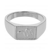 CLUSE Ringen Force Tropicale Signet Rectangular Ring Zilverkleurig