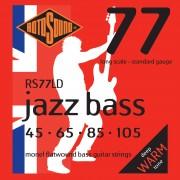 Rotosound Cuerdas para Bajo RS77LD 45 105 Flat Jazz Bass 77, Monel Flatwound