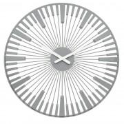 Ceas de perete Koziol Piano, gri, diam. 45 cm
