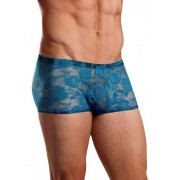 Male Power Sheer Lace Sexy Wonder Boxer Brief Underwear Turquoise 145-194 USA1