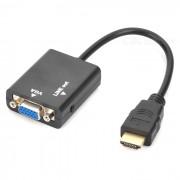 1080p HDMI macho a VGA hembra convertidor adaptador w / 3?5 mm Audio - negro