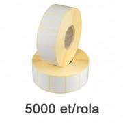 Role de etichete termice 33x30mm, 5000 et./rola