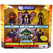 DC UNIVERSE JUSTICE LEAGUE UNLIMITED GOTHAM CITY PATROL 6 PACK: HUSH, BATMAN, CATWOMAN, KILLER CROC, GOTHAM CITY...