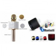 Zemini Q7 Microphone and S 10 Bluetooth Speaker for VIVO x6(Q7 Mic and Karoke with bluetooth speaker | S 10 Bluetooth Speaker )