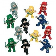 Amscan Fun-Filled Birthday Party Mini Ninja Action Figure Favour (Pack of 12) Multicolor 1 7/8 x 1 x 5/8