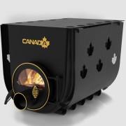 Печка на дърва Canada 03 за огрев и готвене със стъкло и защита