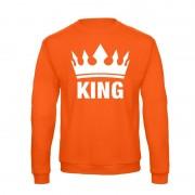 Shoppartners Oranje Koningsdag King sweater heren