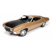 1970 Ford Torino Cobra 429 4V Bright Gold Poly Code 'K' 1/18 by Autoworld AMM1039
