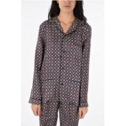 Prada pigiama in seta fantasia astratta taglia M