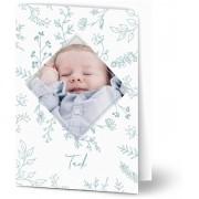 Optimalprint Tackkort för dop, glansigt papper, standard-kuvert, 1 st, fotokort (1 foto), blommor, pojke, vit, A6, vikt, Optimalprint