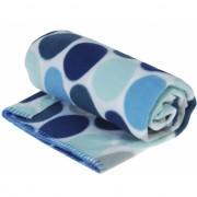 Witte deken met blauwe stippen