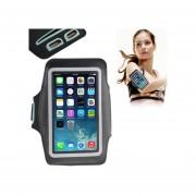 Universal Caja Del Brazalete PU Deportes Con El Auricular Del Agujero Para El IPhone 6 Y 6S / Samsung Galaxy S IV / I9500 / S III / I9300 ( Negro )