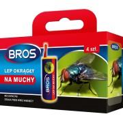 Спирала-капан с лепило за мухи и други летящи насекоми Брос - 4 бр.
