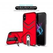 Funda Case Iphone Xs / IPhone X Uso Rudo Heavy Duty - Rojo