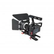 Yelangu Ylg1105a A7 Jaula Jaula Incluyen Cámara De Vídeo Estabilizador / Follow Focus / Caja De Mate Para Samsung 7 / A7 / A7r / A7rii / A7sii / Panasonic Lumix Dmc - Gh4 (rojo)