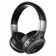 ZEALOT B19 Over-ear Bluetooth Headset with Mic Support TF Card/Aux/FM - Black / Silver