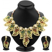 Sukkhi Intricately Gold Plated AD Necklace Set For Women
