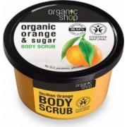 Scrub de corp Organic Shop delicios cu zahar si portocala Sicilian Orange, 250 ml