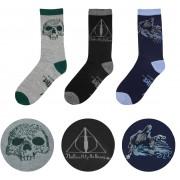 Cinereplicas Harry Potter - Deathly Hallows Socks 3-Pack