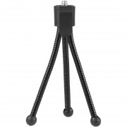 ER Flexible Universal Mini Portátil De Metal Soporte Del Trípode Para Cámara Digital Webcam Negro.