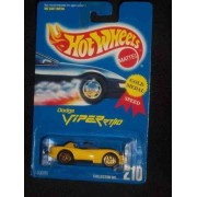 Hot Wheels Dodge Viper Rt/10 (Open Top) Yellow Body Color Gold Ultra Hot Wheel Hubs Malaysia Made Collector #210