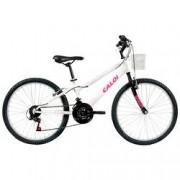Caloi Bicicleta Caloi Ceci - Aro 24 - Freio V-Brake - 21 Marchas - Feminina - Infantil - BRANCO