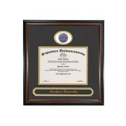 Signature Announcements Southern-University-and-a & m-College Undergraduate, Graduate/Profesional/Médico esculpido Foil Sello y Nombre de Diploma Marco, 40.6 x 40.6 cm, Mate Caoba