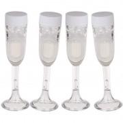 Merkloos 4x Bellenblaas champagne glas