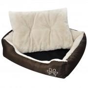 vidaXL Cama para cão, quente com almofada acolchoada, tamanho S
