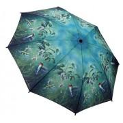 Blooming Brollies Doamnelor pliere complet auto matic umbrela Humming păsări GBFHB
