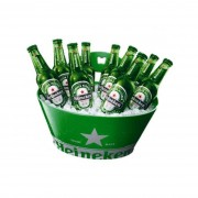 Heineken Nothing says party like a Heineken bucket full of ice and lager! Now you can celebrate the sunshine and good times in style whilst keeping your lager icy cold. The handy bottle opener and compact size makes this Heineken beer bucket perfect for a