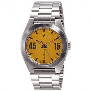 Fastrack Analog Yellow Dial Mens Watch - 3110SM04