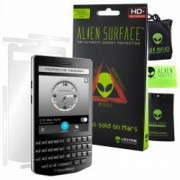 Folie Alien Surface HD BlackBerry Porsche Design P9983 protectie spate laterale + Alien Fiber cadou
