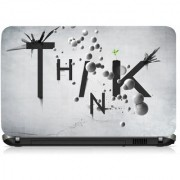 VI Collections White Balls With Text Printed Vinyl Laptop Decal 15.5