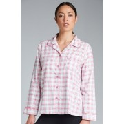 Womens Mia Lucce Flannel PJ Top - Check Sleepwear Nightwear