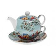 Vesnice - porcelánový tea for one