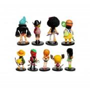 9Pcs Juguetes Set De Figuras De One Piece, Juguetes Set Niños Juguetes De Peluche De Coches De Artículos De Menaje