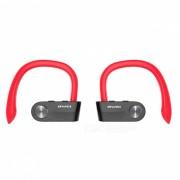 awei T2 invisible verdadero inalambrico de cancelacion de ruido estereo mini TWS auricular bluetooth con microfono - rojo