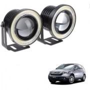 Auto Addict 3.5 High Power Led Projector Fog Light Cob with White Angel Eye Ring 15W Set of 2 For Honda CR-V