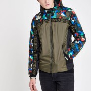 Superdry Mens Superdry Green camo cagoule (L)
