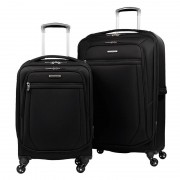 Samsonite Ultralite 2 Luggage Set 2 Piece In Black 4 Wheel Spinner