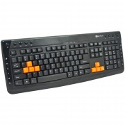 Tastatura Serioux Multimedia KB-3300 cu fir neagra