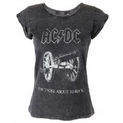 tricou stil metal femei AC-DC - About To Rock - ROCK OFF - ACDCTS25LAW