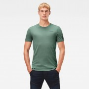 G-star RAW Hommes T-Shirt Text Graphic Slim Vert