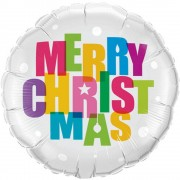Balon folie 45 cm Merry Christmas Qualatex 54145