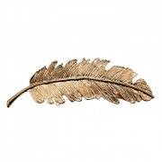 Tallulah - Gold Feather Hairclip