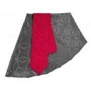 MERADISO® Tafelkledenset (160 x 220 cm, Antraciet/rood)